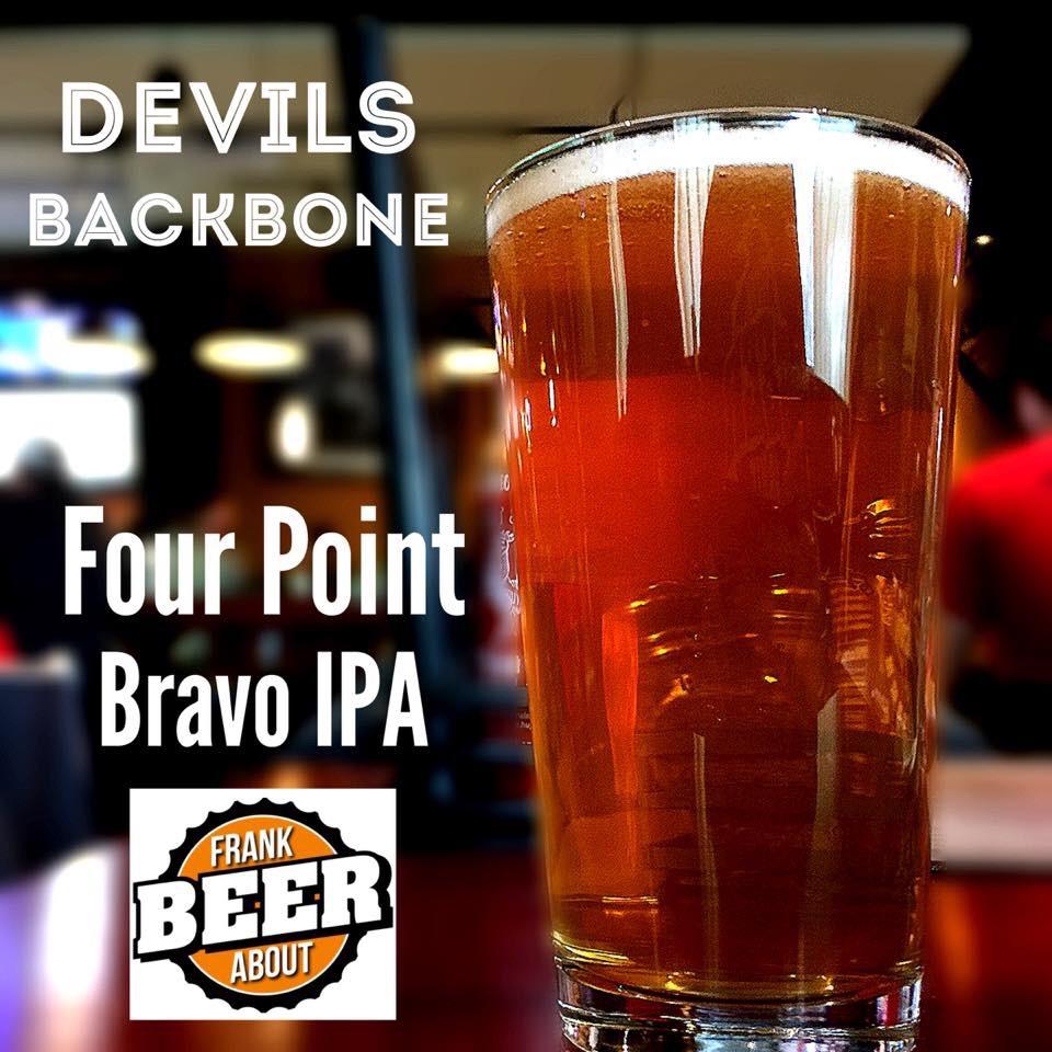 Devils Backbone Brewing Bravo Four Point IPA craft beer from Virginia