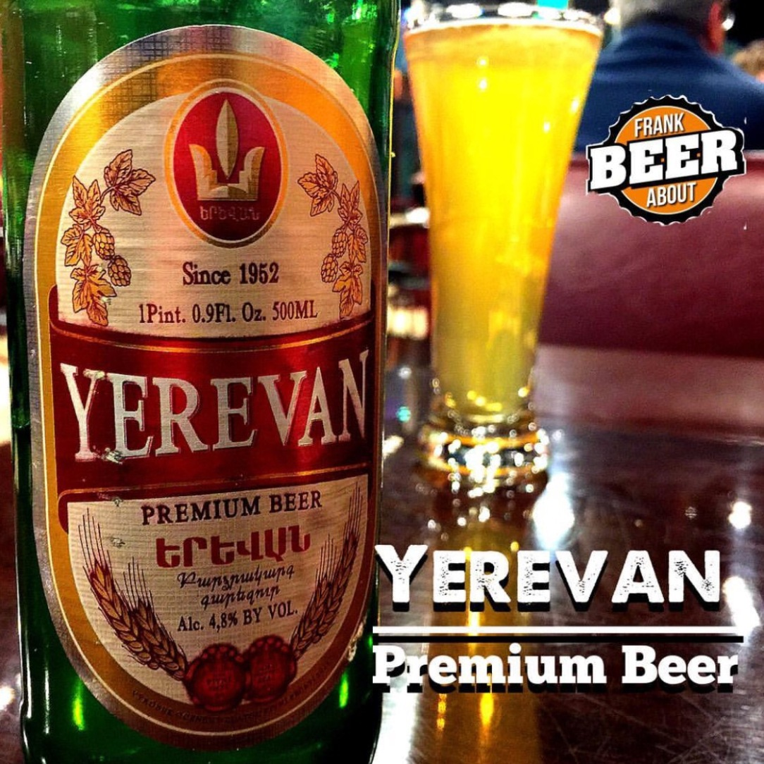 Bottle and glass of Yerevan Premium Craft Beer