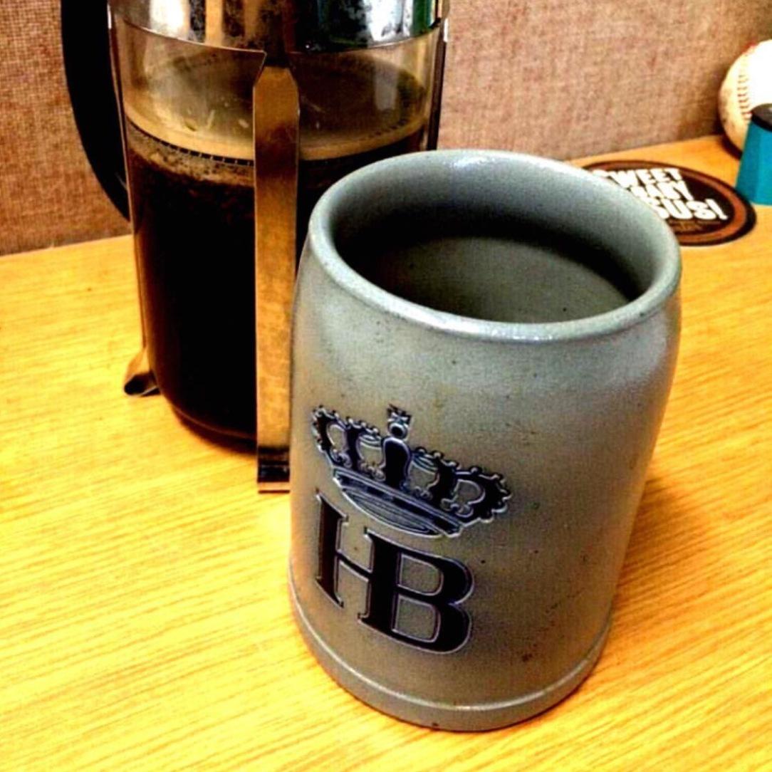 Antique vintage German beer stein mug