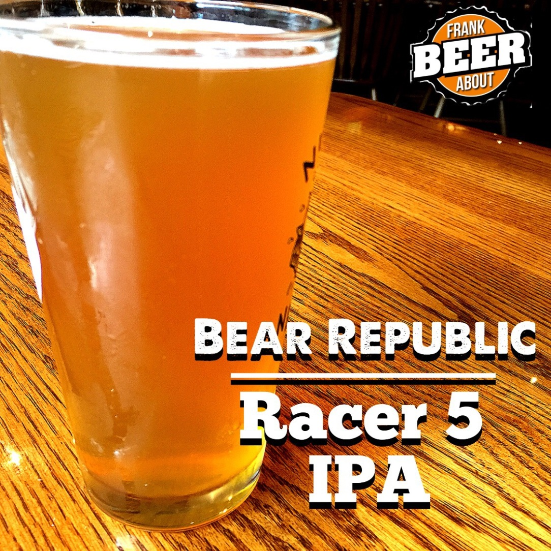 Pint glass Bear Republic Racer 5 IPA craft beer