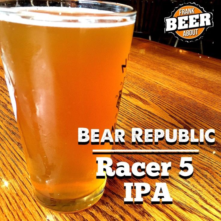 Pint glass Bear Republic Racer 5 IPA craft beer