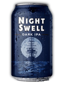 Heavy seas craft beer can Night Swell Dark IPA