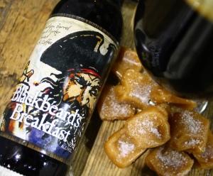 Bottle of Heavy Seas Blackbeard Breakfast barrl aged porter