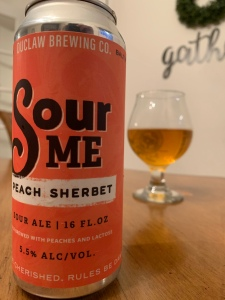 DuClaw Brewing Sour Me Peach Sherbet craft beer can